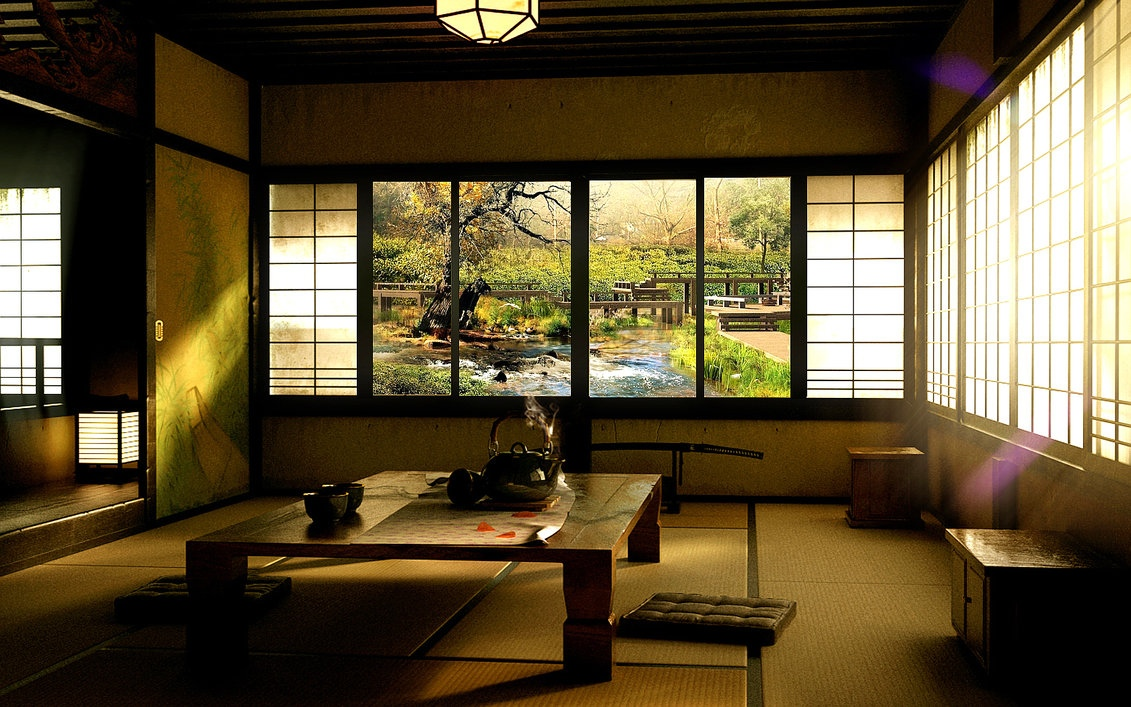 Traditional Japanese Living Room zen inspired interior design