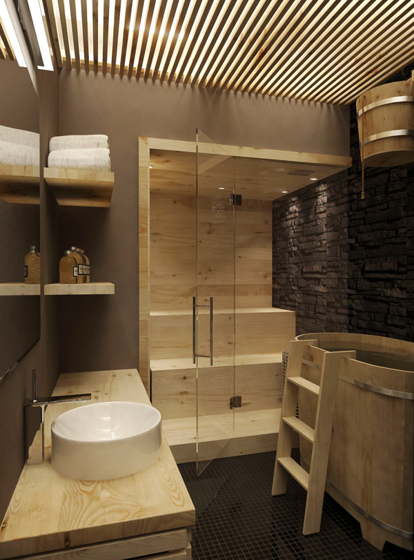 Home sauna room | Interior Design Ideas.