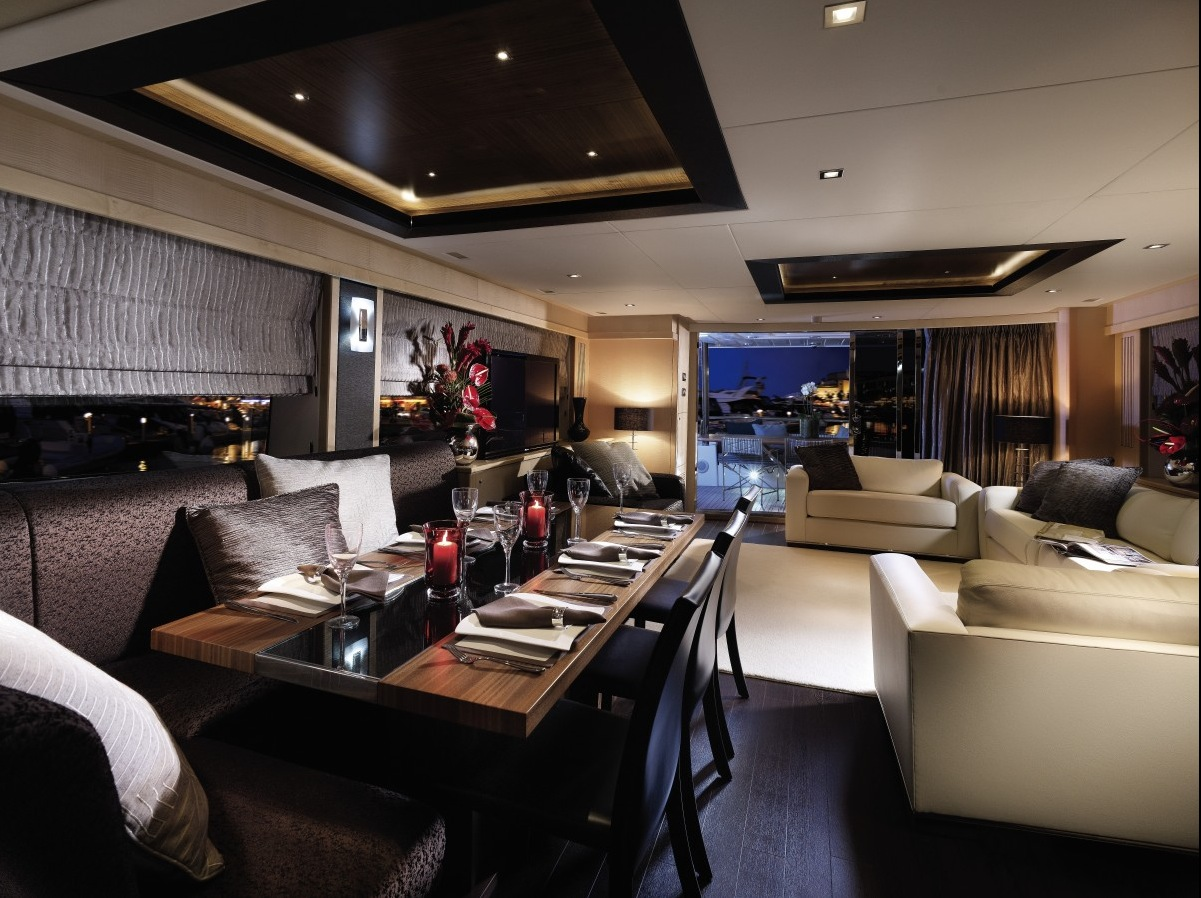 Lounge Diner - Luxury yacht interior design