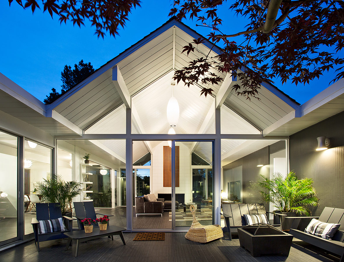 Remodeled californian home for Pitched roof design plans