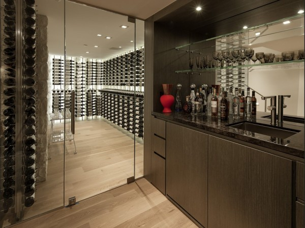 Wine cellar with its own bar.