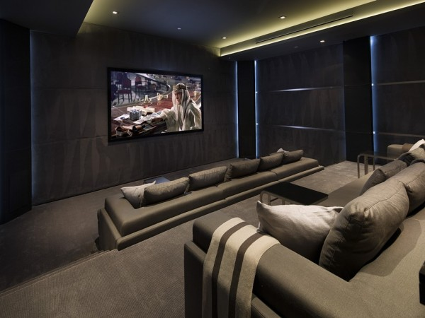 Private screening room.