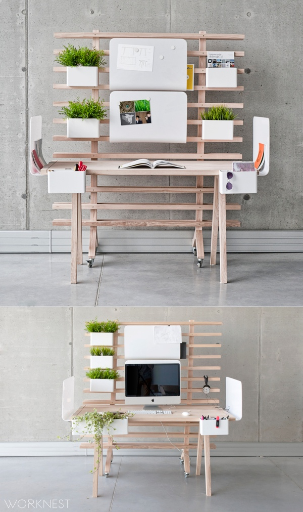 Modular Desk Space - 30 inspirational home office desks