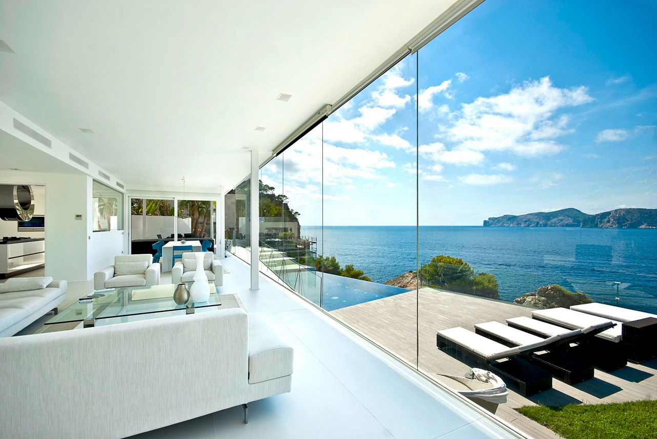 Mallorca holiday home colored by sea view for In house designer