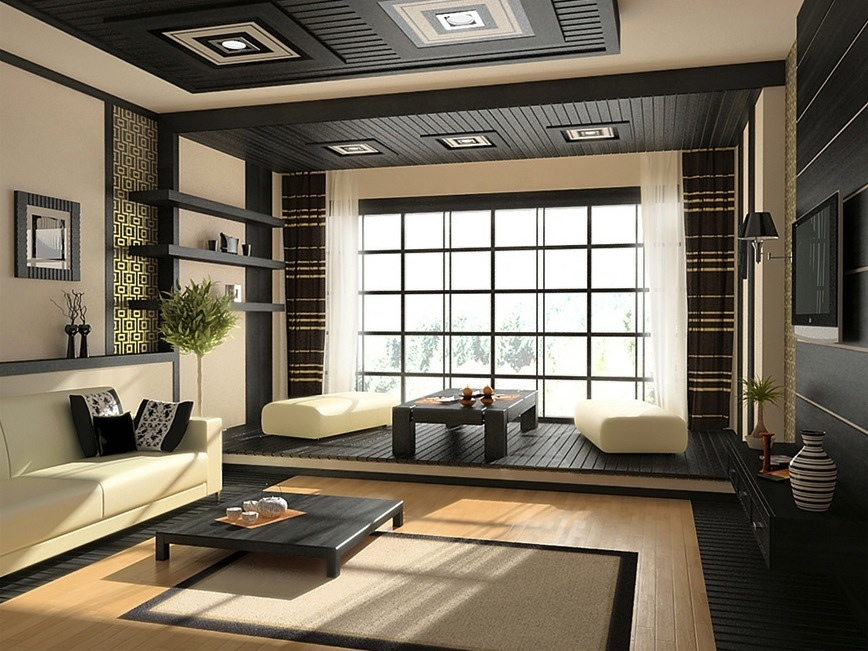 Zen inspired interior design for Asian inspired house plans