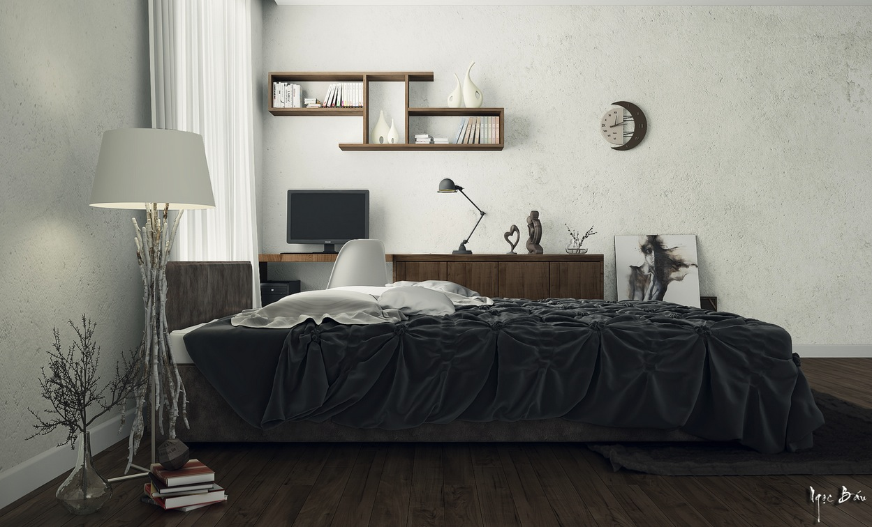 Black Ruffle Sheet - Interiors with natural and rustic accents