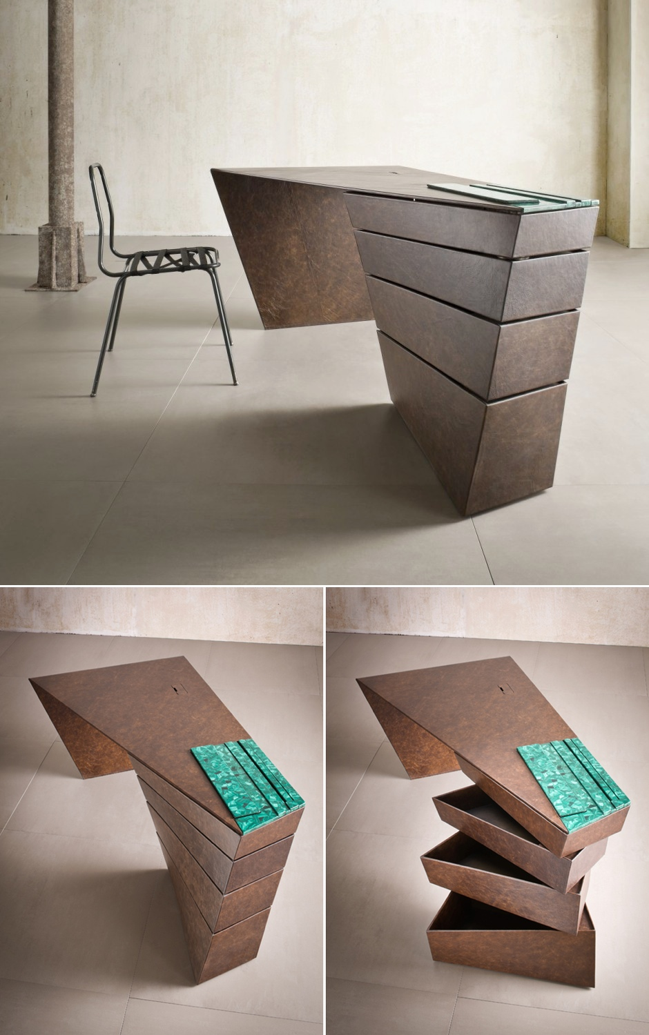 Twisted Desk - 30 inspirational home office desks