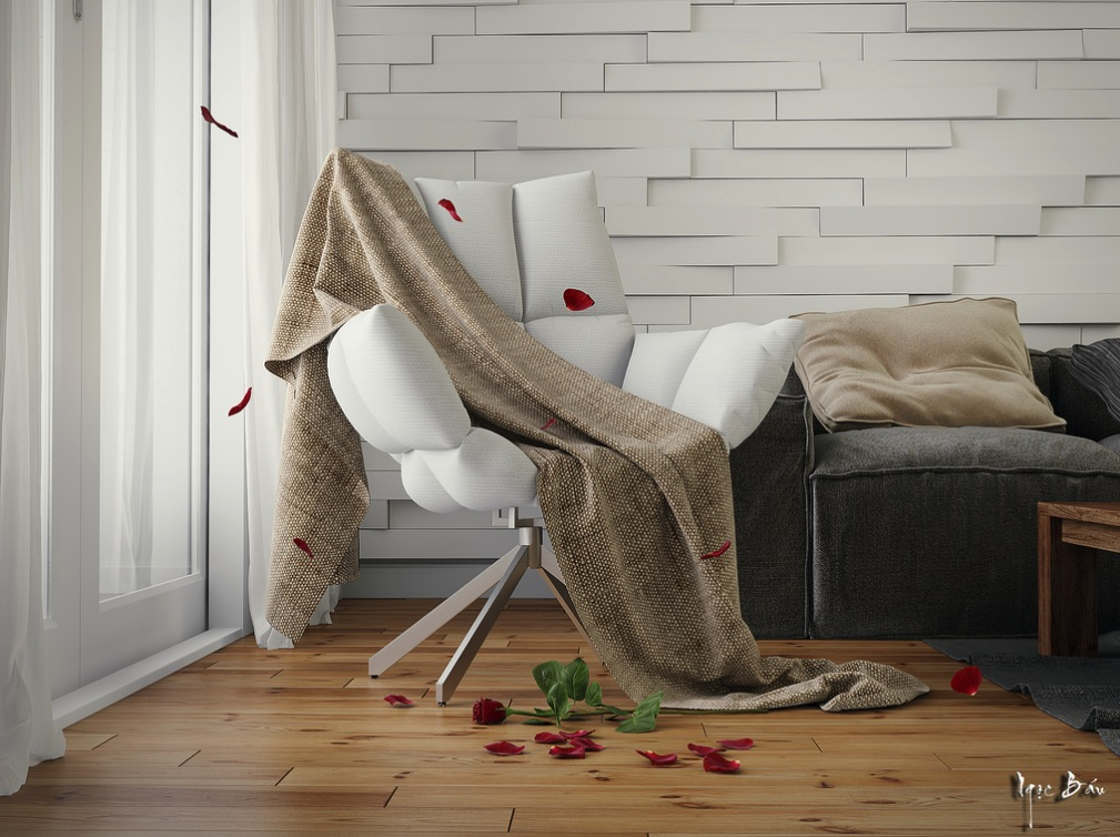Hessian Throw - Interiors with natural and rustic accents
