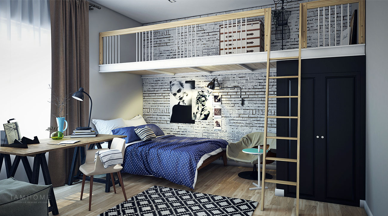 Beautifully modern youthful home for a small family for Poster jugendzimmer