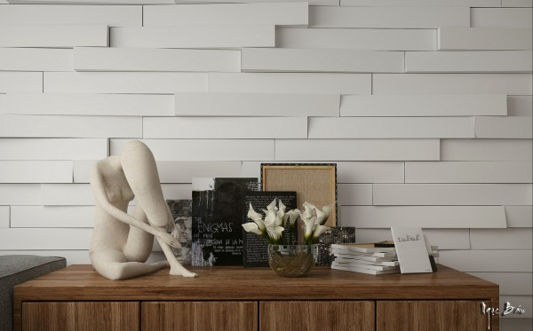 Extruded feature wall