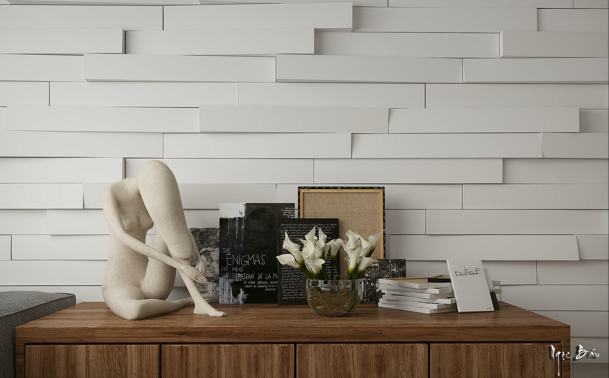 Extruded Feature Wall - Interiors with natural and rustic accents