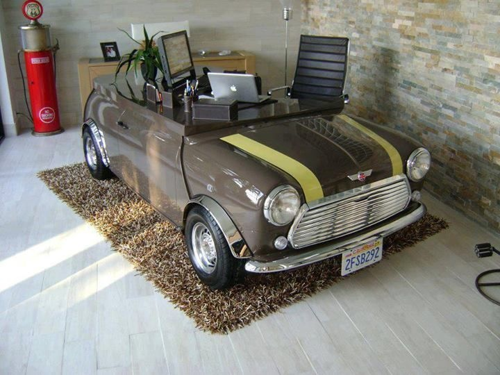 Mini Cooper Desk - 30 inspirational home office desks