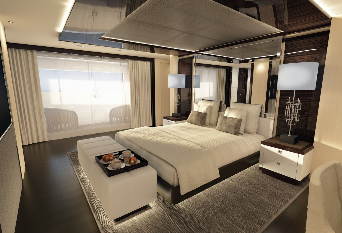 Yacht Bedroom Suite - Luxury yacht interior design