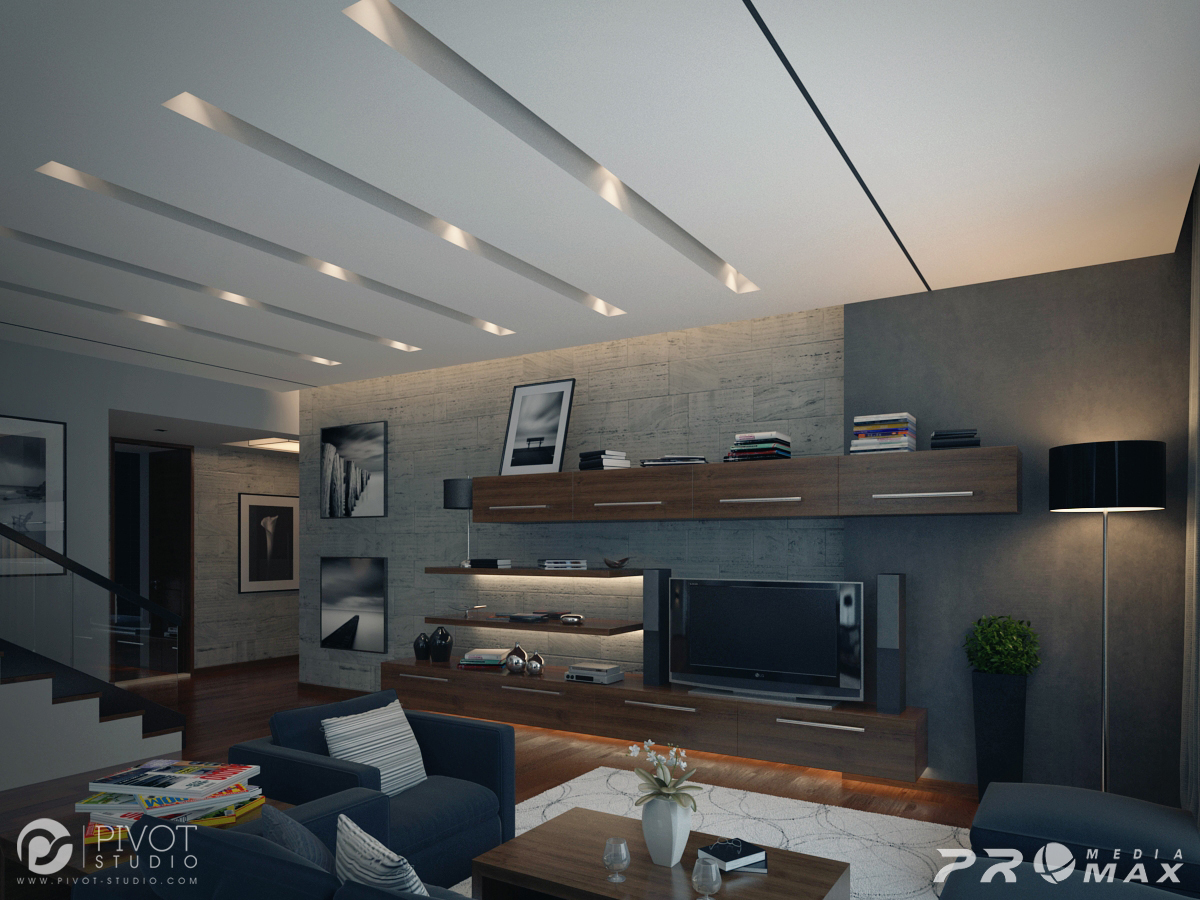 Entertainment Wall - Luxurious room schemes