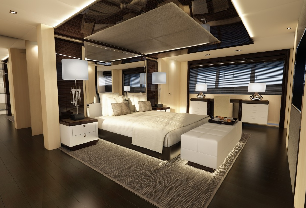 Luxury Bedroom Suite - Luxury yacht interior design
