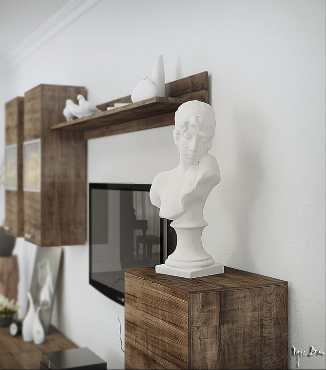 White Bust - Interiors with natural and rustic accents