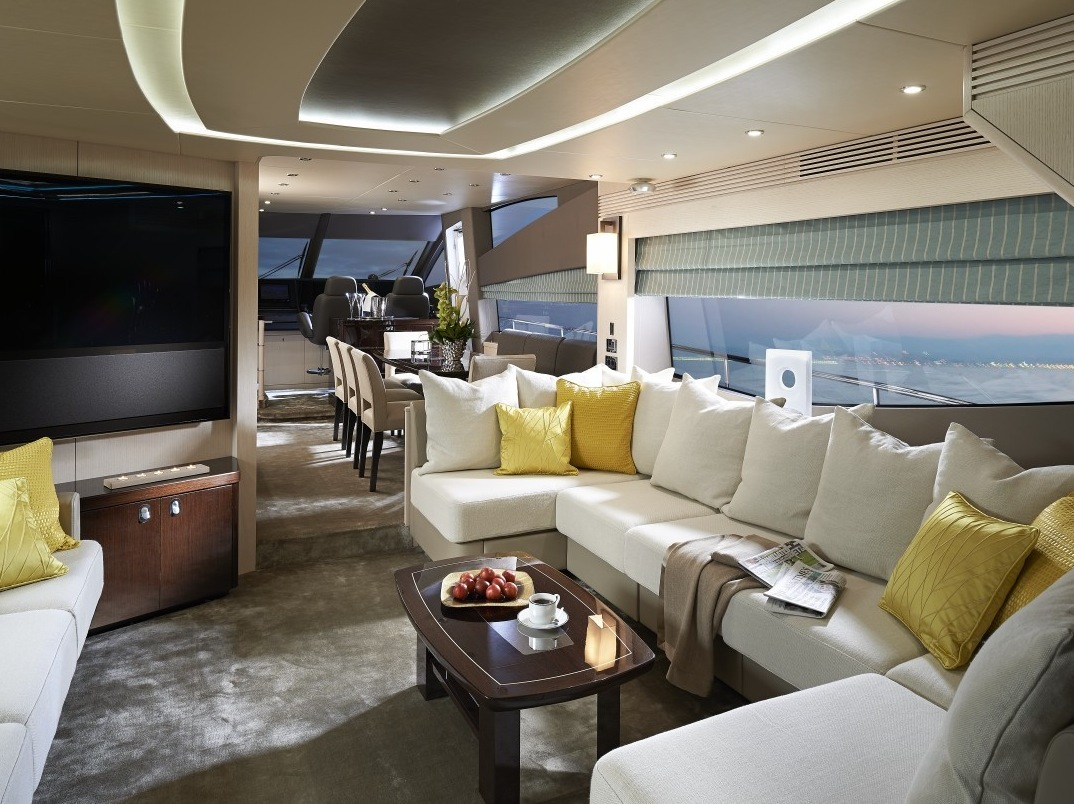 Yacht Built In Sofa - Luxury yacht interior design