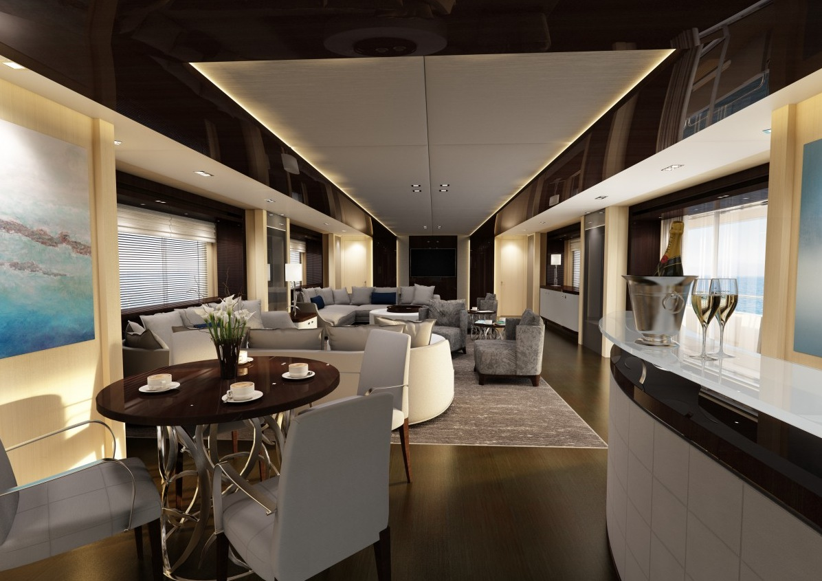 Luxury yacht interior design for Interior desings