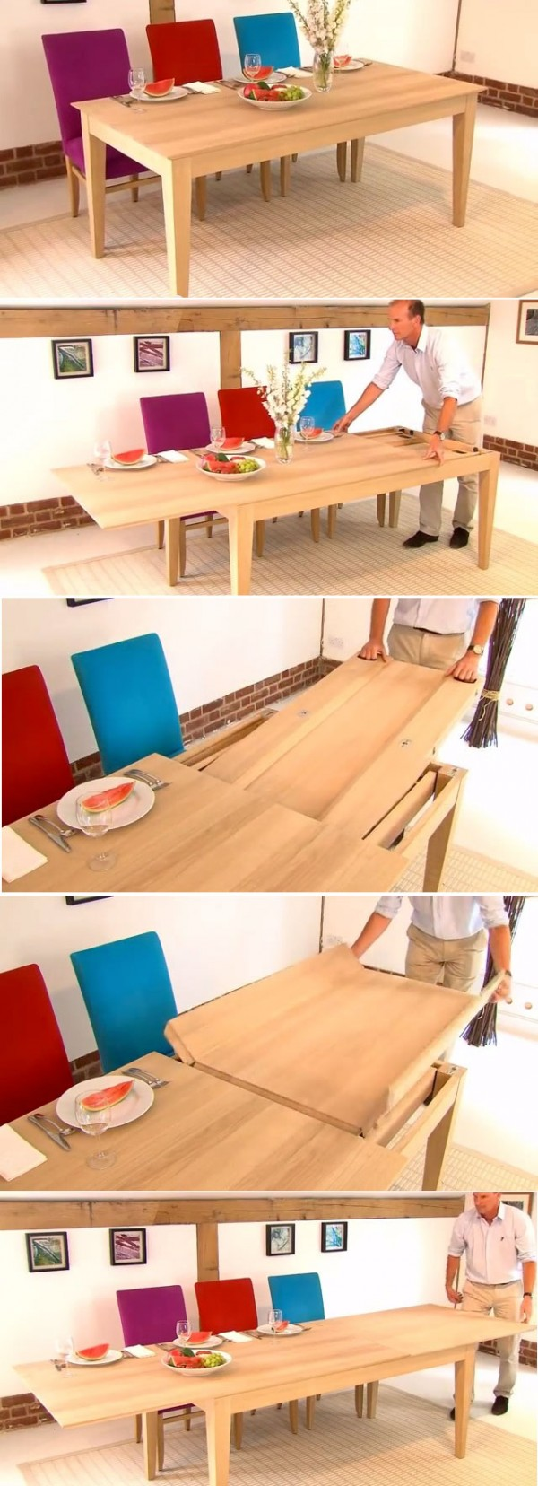 Expandable dining suite