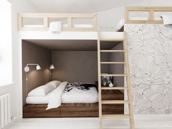 Double Bunkbed Interior Design Ideas