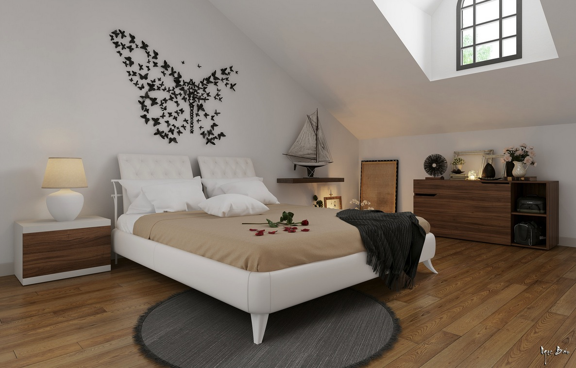 Butterfly Wall Feature - Interiors with natural and rustic accents