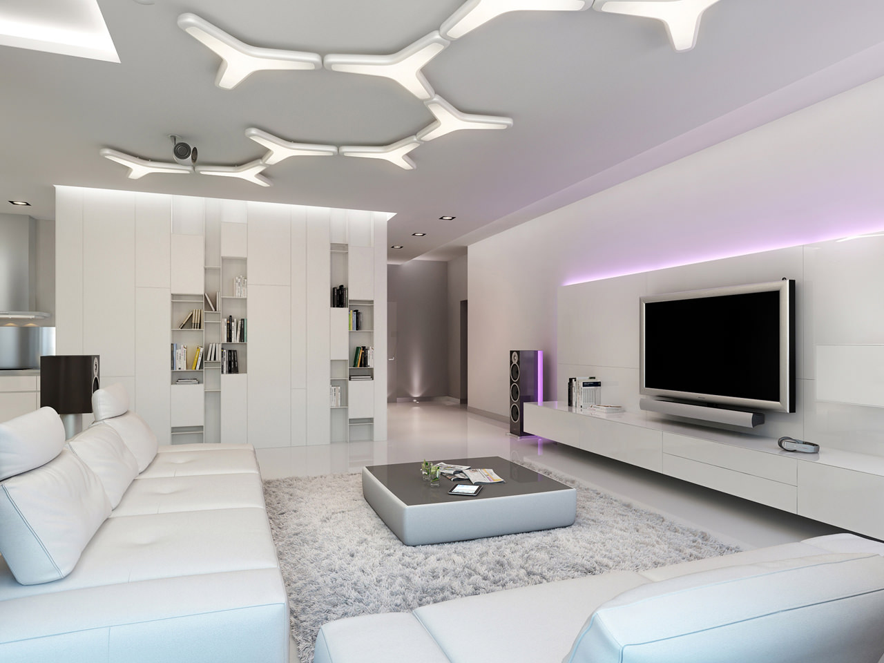 Three apartments with extra special lighting schemes - Salones sencillos ...
