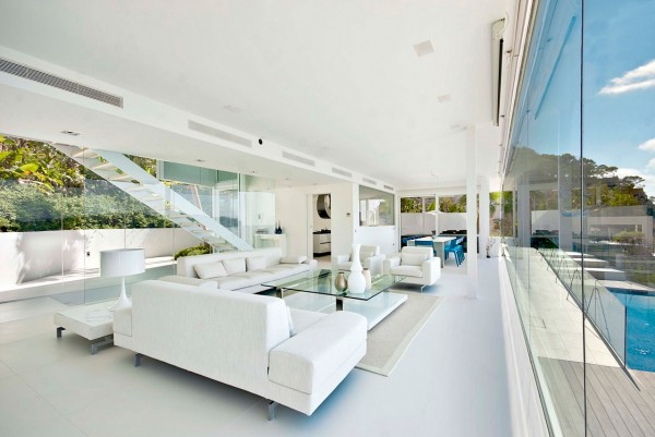 Contemporary villa interior
