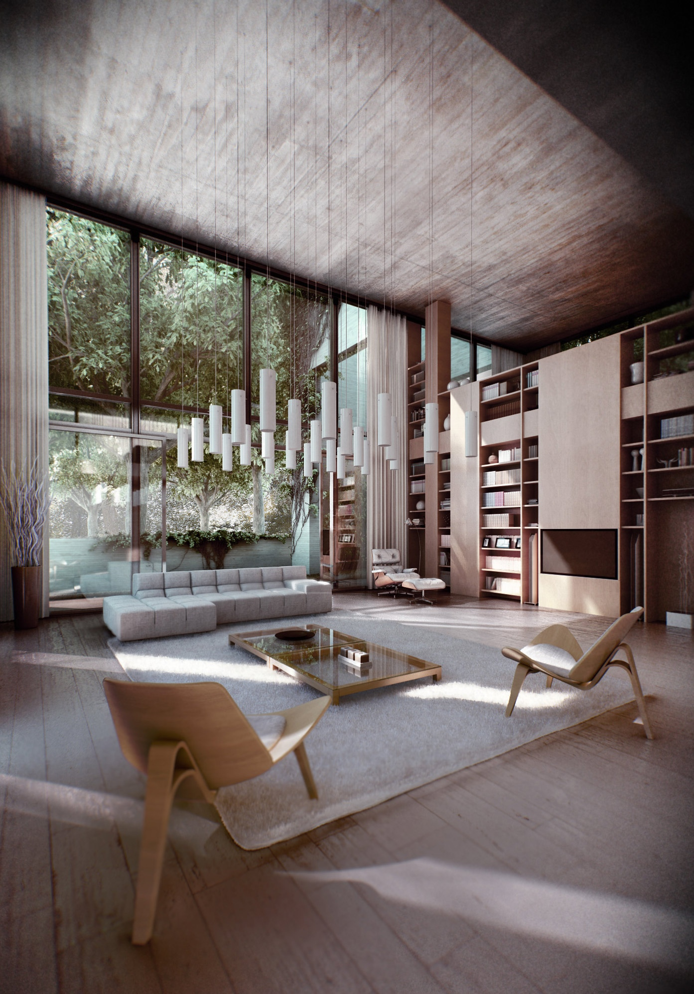 Zen inspired interior design for Modern architecture interior