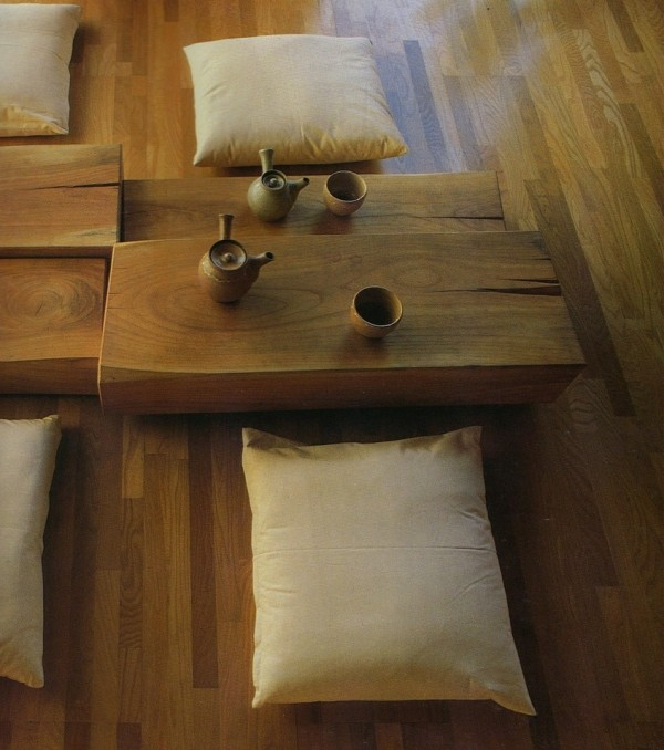 A rustic look works well in a zen inspired room.