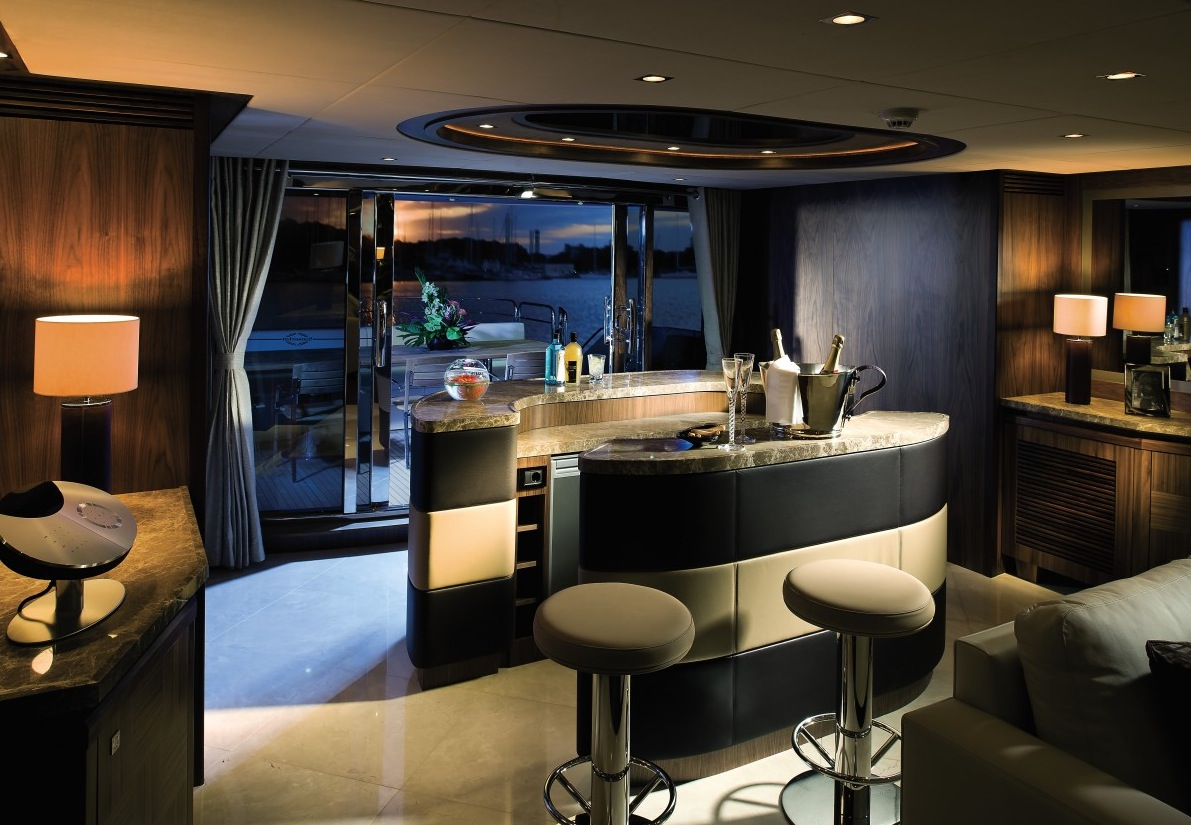 Luxury yacht interior design for Lounge decor ideas pictures