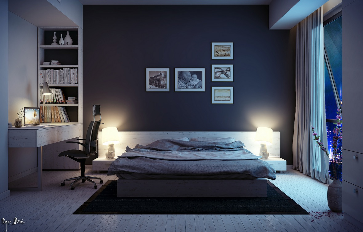 Platform Bed - Interiors with natural and rustic accents