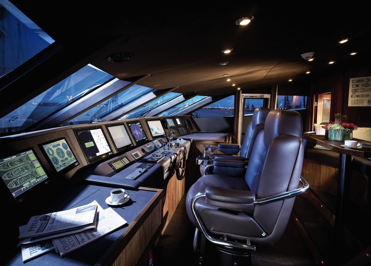 Yacht Control Desk - Luxury yacht interior design
