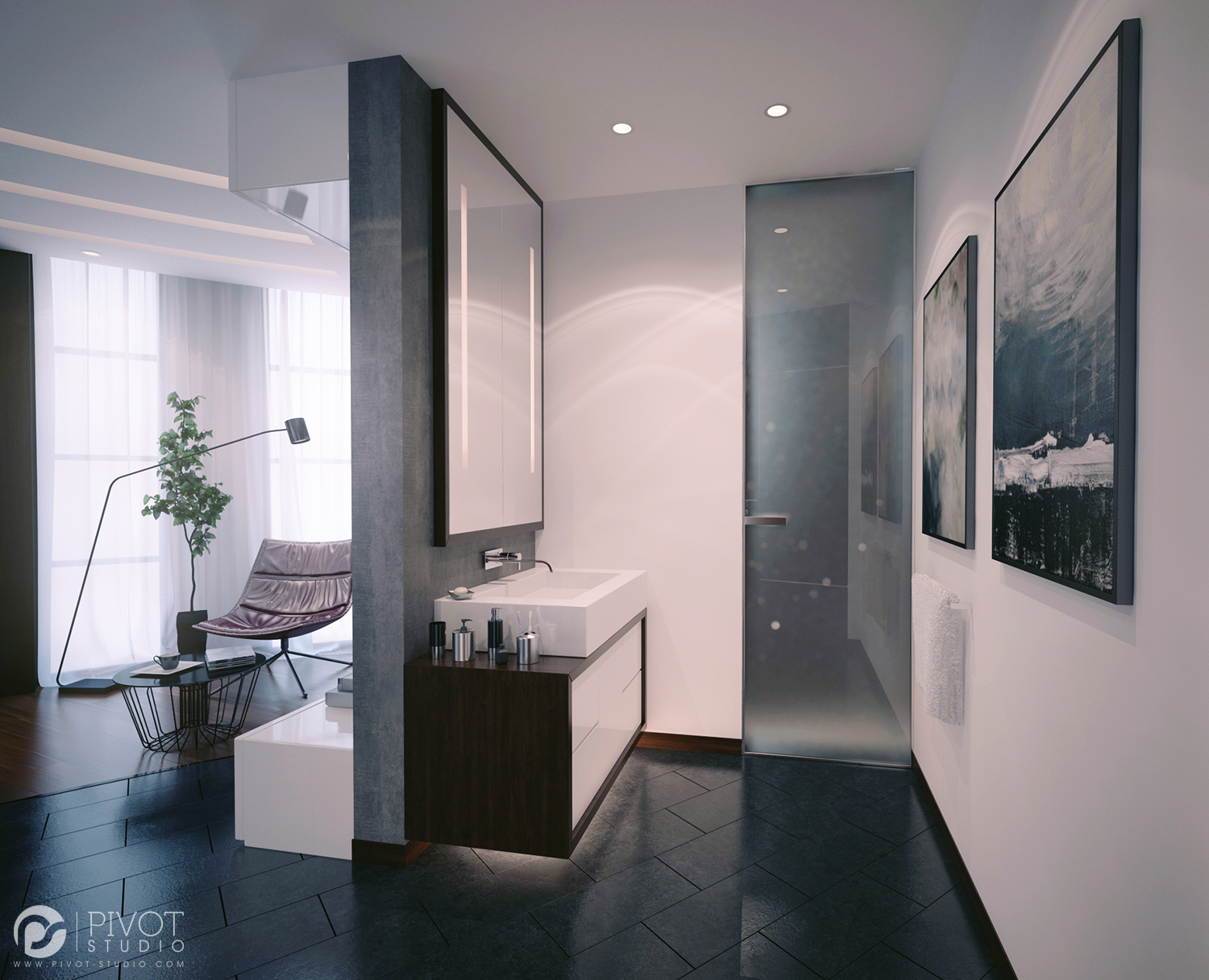 Wall Mounted Vanity Unit - Luxurious room schemes