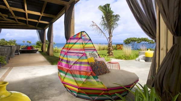 Colorful outdoor chair