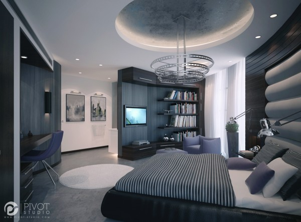 High end bedroom design