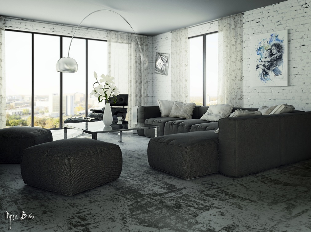 Modular Sofa - Interiors with natural and rustic accents
