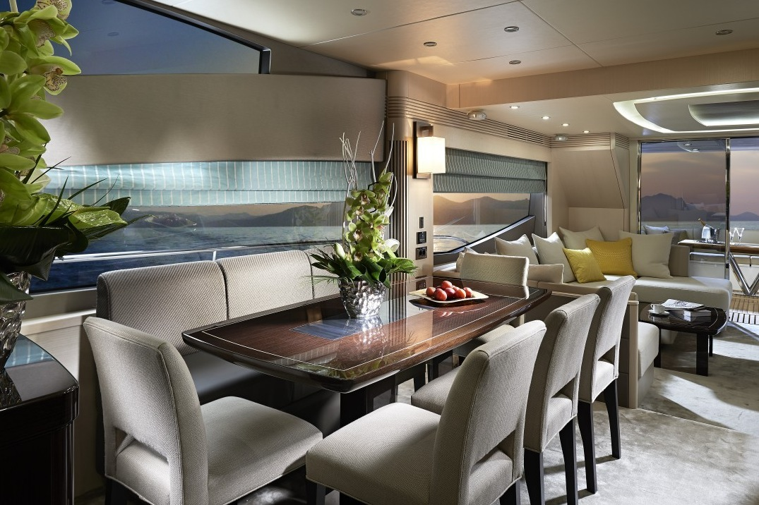 Yacht Dining Area - Luxury yacht interior design