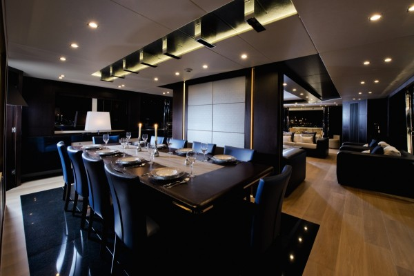 Amazingly, the dining area onboard can seat up to ten guests with ease.