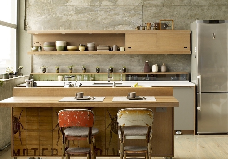 Zen kitchen interior design ideas for Japanese kitchen designs