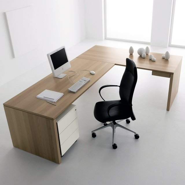 Office Desk Design Ideas famous teak tabletop for diy office desk design with bright saver as the holders 30 Inspirational Home Office Desks