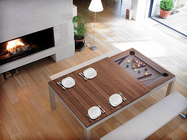 Extended use can come from incorporating a concealed games table.
