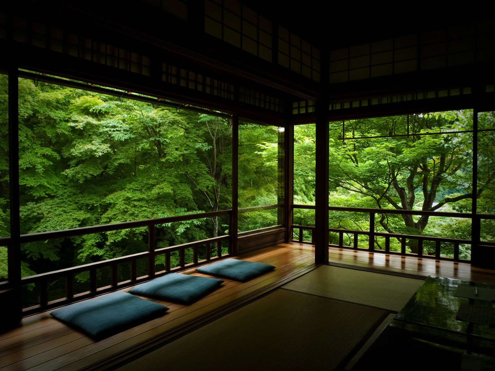 Zen inspired interior design for Modern japanese tea house design