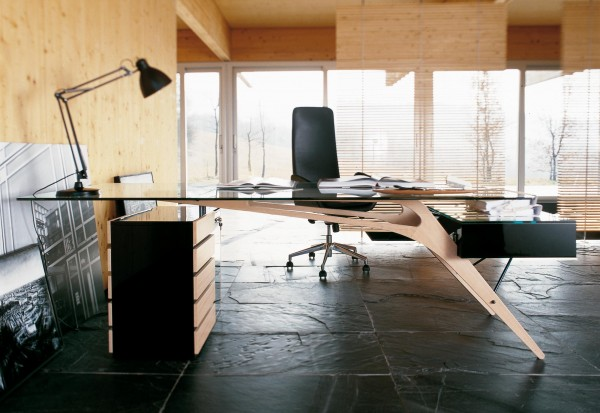 This designer desk adds a little wow factor.