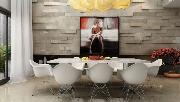 Modern White Dining Rooms dining rooms that mix classic and ultra-modern decor
