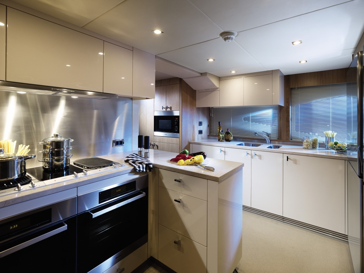 Compact Kitchen - Luxury yacht interior design