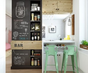 Kitchen Design Ideas Small Area designing for small spaces: 3 beautiful micro lofts