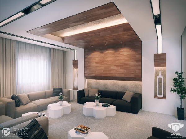 modern luxurious living room