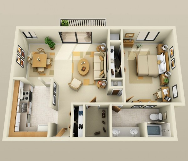 Interior Design One Bedroom Apartment