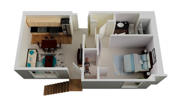 Bedroom Apartment House Plans    Source  Misora