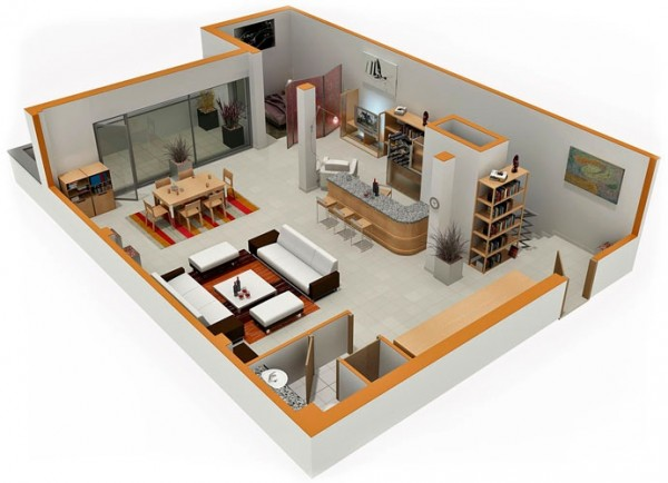 Modern Apartment Interior Design Plans Studio Apartment Floor Plans